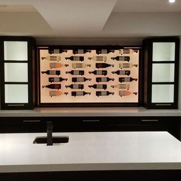 Acrylic Panel on a Large Wine Rack 1