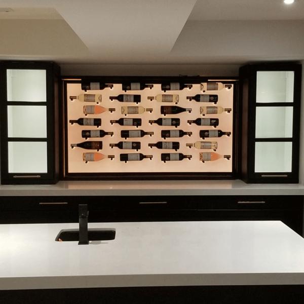 Acrylic Panel on a Large Wine Rack