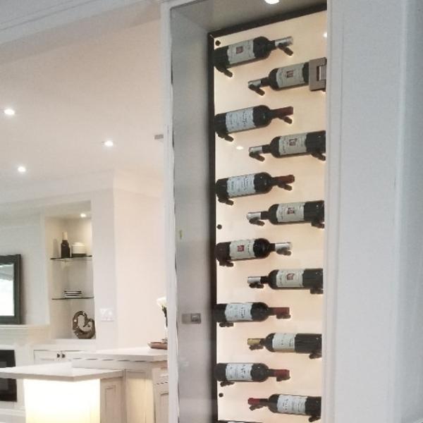 Acrylic panel on Wine Rack 1