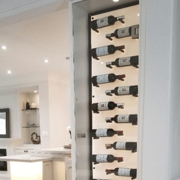 Acrylic panel on Wine Rack