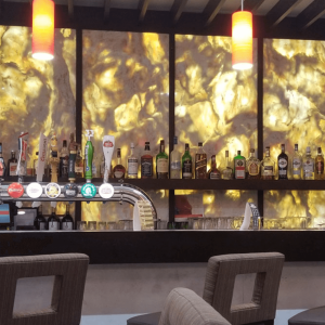 Backlit LED panel in bar 1