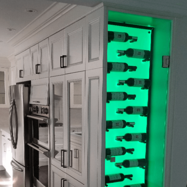 Color Changing LED wine Rack