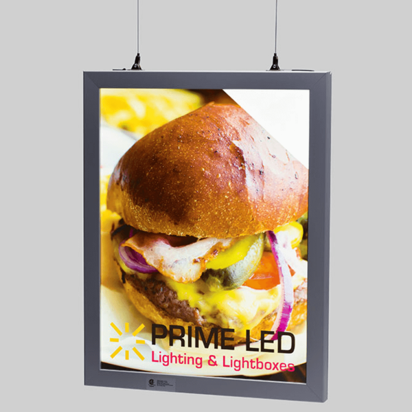 HANGING DOUBLE SIDED LED SNAP FRAME