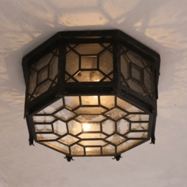 Hand forged ceiling mount lighting Comb 1