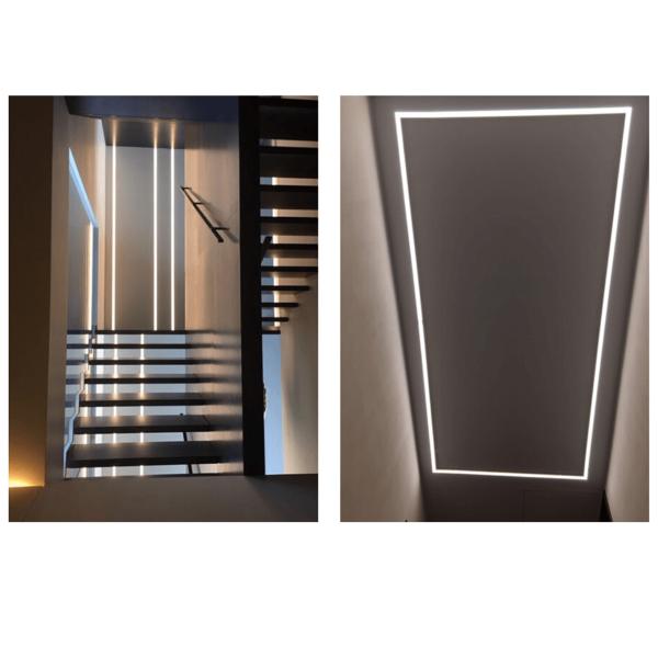 Inline recessed led lighting 4