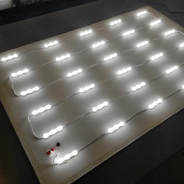 Modular Backlit LED light panel 1
